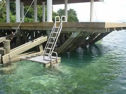 6 step dock ladders dock stairs and pier steps aqua stairs