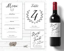 modern wedding table decorations personalised wine labels