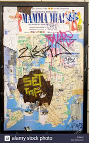 Brooklyn New York Map by A Vandalized New York City Subway Map On The Wall Of A Station In