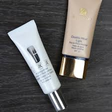 a powerful duo estee lauder double wear light and clinique universal face primer bellachique