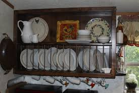 white wooden wall mounted dish drying rack in a good design