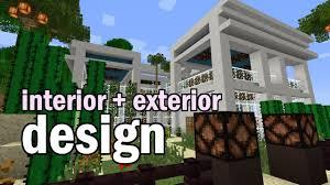 minecraft luxury house interior and garden design youtube