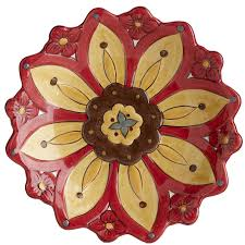 carynthum flower salad plate pier 1 imports
