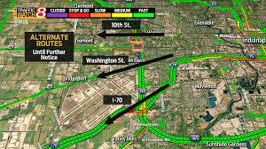 Washington Traffic Map by Traffic To Be Diverted At I 70 After Bridge Damaged On Nb I 465