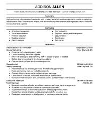 Construction Project Coordinator Resume Sample by Best Administrative Coordinator Resume Example Livecareer
