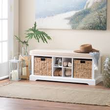 White Entryway Table by Entryway Bench On Hayneedle Mudroom Bench