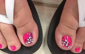 hawaiian flower toe nail art nail toenail designs art