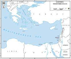 Jordan Country Map Map Of Eastern Mediterranean Countries