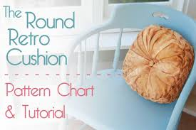 Knitted Cushions With Buttons The Round Retro Cushion Pattern Chart U0026 Tutorial Jennifer