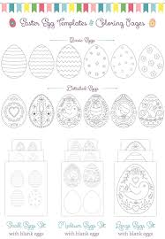 printable easter egg coloring pages u0026 templates personal