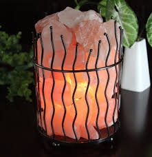 Himalayan Salt Light by Himalayan Salt Basket Lamps Himalayan Salt Boutique
