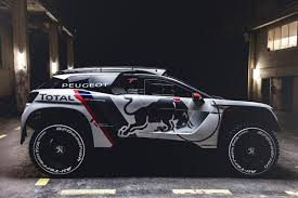 peugot 3008 new race car peugeot 3008 dkr u2013 dakar rally red bull