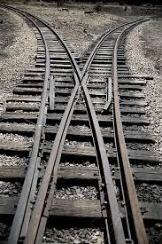 image of cross rails of a rail line in Colorado