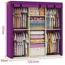 amazon com youzee home portable fabric cover cloth hanger rack