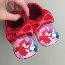 little mermaid baby moccasins baby shower ideas baby