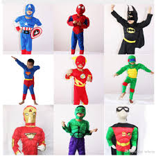 Flash Halloween Costumes Halloween Costume Kids Captain American Spiderman Superman