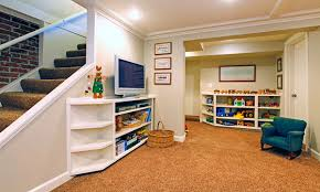 Playrooms Playroom And Rec Room Construction In Basement Angi Home