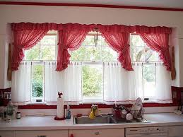 curtains beautiful kitchen curtains inspiration red and yellow