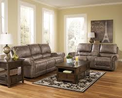 reclining faux leather sofa with rolled arms u0026 nail head trim by