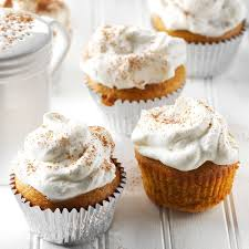 pumpkin pie cupcakes with whipped cream recipe taste of home