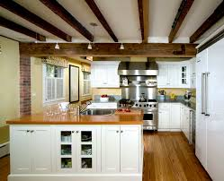 Exposed Beam Ceiling Living Room by Interior Classy Living Room Decoration Idea With Cherry Wood