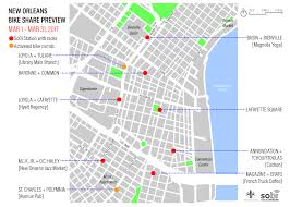 New Orleans Downtown Map by Bike Share Preview Event City Of New Orleans