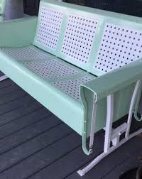 old metal porch glider parts vintage metal gliders old fashioned