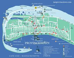 i am provincetown map with streets parkings beaches and