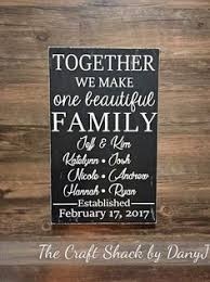 Personalized Signs For Home Decorating Blended Family Wedding Gift Idea Personalized Sign Custom Wooden