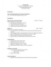 Student Resumes For First Job by Awesome Example Of High Student Resume For College High