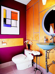 fabulous kids bathroom with colorful wall decor also wall stickers