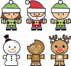 cute christmas characters stock vector art 121690913 istock