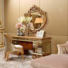 Vanity Dresser Bisini Antique Vanity Dresser With Mirror Luxury Bedroom Golden
