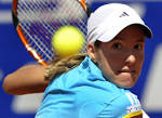 Justine Henin from Belgium returns a ball to Dinara Safina of Russia during ... - 448