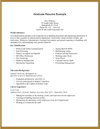 Student Resume Summary Examples by High Graduate Resume Summary Virtren Com