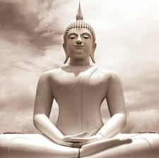 platin art deco glass wall decor art on glass buddha statue
