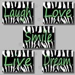 Lime Green Zebra Print Girl Room Wall Decor by collagebycollins