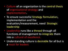 Thesis on organisational culture