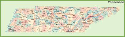 Map Of Cities In Usa by Road Map Of Tennessee With Cities