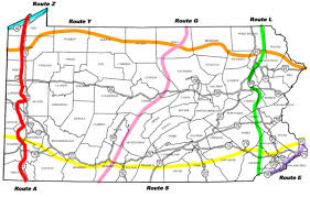 Map Of The Ohio River by Bicyclepa Route A