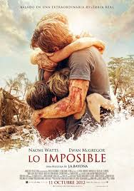 Lo imposible J.A Bayona cartel película