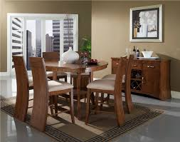 triangular dining table with bench seating