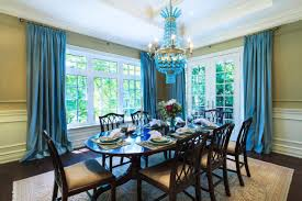 dining room blue curtains the art of designing dining room with