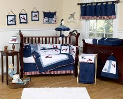 Vintage White Baby Crib by Navy Blue Vintage Airplane Baby Boy Crib Bedding Set 9pc Nursery