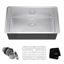 Stainless Steel Kitchen Sinks Kitchen The Home Depot - Shallow kitchen sinks