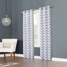 big one chevron window curtain set