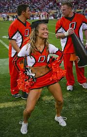 An Oklahoma State cheerleader