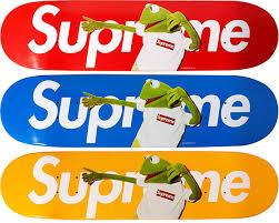 Supreme Kermit skateboard deck