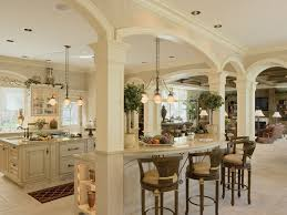 large kitchen are meant to evoke the French colonial period