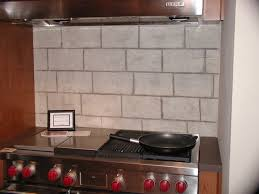 Faux Limestone Backsplash